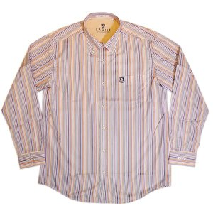 バジエ VAGIIE ストライプ柄 長袖コットンシャツ 日本製(アウトレット30%OFF) 通常販売価格:20900円|fashionspace-yokoya