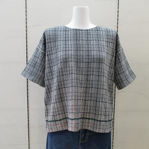 インディヴィ INDIVI レディース グレンチェック半袖ニット 通常販売価格:14850円|fashionspace-yokoya