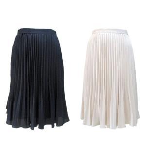 インディヴィ INDIVI レディース サテンアコーディオンプリーツスカート 通常販売価格:17050円 fashionspace-yokoya