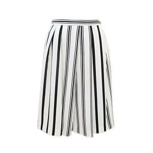 インディヴィ INDIVI レディース MIXストライプフレアスカート (アウトレット50%OFF) 半額 通常販売価格:19250円 fashionspace-yokoya