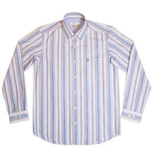 バジエ VAGIIE 2220-1021 ストライプ柄 長袖コットンシャツ オーストリア製生地使用 日本製 通常販売価格:20900円|fashionspace-yokoya