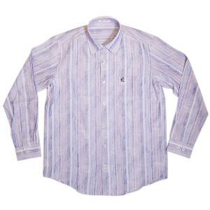 バジエ VAGIIE ストライプ柄 綿麻長袖シャツ 日本製 2220-1024 通常販売価格:26400円|fashionspace-yokoya