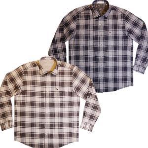 バジエ VAGIIE チェック柄 長袖コットンシャツ 3120-1024 日本製 通常販売価格:20900円|fashionspace-yokoya