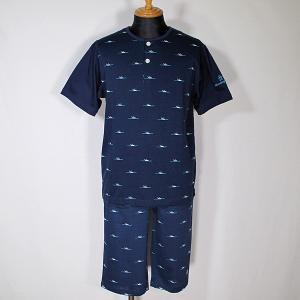 マンシングウェア Munsingwear メンズ 半袖半ズボンペンギン柄ヘンリーネック上下スウェット ホームウェア 通常販売価格:13200円|fashionspace-yokoya