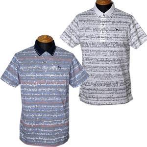 アダバット adabat メンズ 半袖英語柄ポロシャツ ゴルフウェア 通常販売価格:20900円|fashionspace-yokoya
