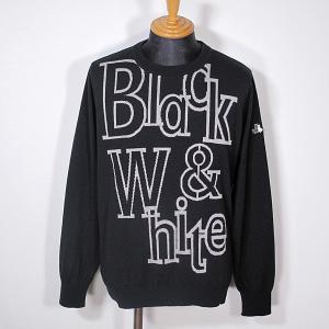ブラック&ホワイト Black&White メンズ BIGロゴクルーネックセーター ニット 2019秋冬新作 ゴルフウェア 通常販売価格:30800円|fashionspace-yokoya