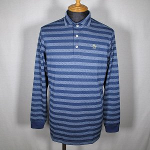マンシングウェア Munsingwear メンズ 長袖ボーダー柄ワイド衿ポロシャツ ゴルフウェア 通常販売価格:15400円|fashionspace-yokoya