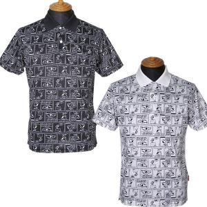 23区ゴルフ 23区GOLF メンズ 半袖スヌーピーコミック柄ポロシャツ(BIG) 3L 4L ゴルフウェア 2019秋新作 通常販売価格:16500円|fashionspace-yokoya