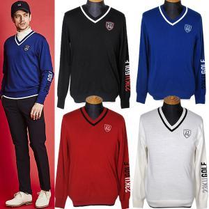23区ゴルフ 23区GOLF メンズ Vネックセーター ニット ゴルフウェア 2019秋冬新作 通常販売価格:22000円|fashionspace-yokoya