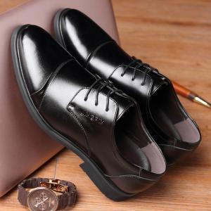 メンズ 紳士靴 ビジネスシューズ レザーシューズ フォーマル ポインテッドトゥ 無地 レースアップ 定番 オールシーズン 滑り止め 通勤 おしゃれ|fashionya