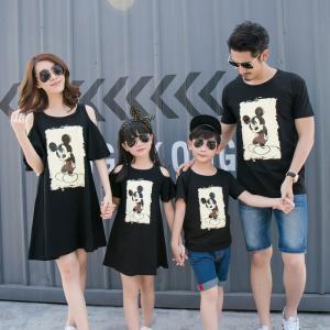 ミッキー 親子お揃い ファッション ペアルック ペアTシャツ カップル ペア上着 ワンピース 家族 お揃い 子供服 兄弟 姉弟 姉妹 プレゼント