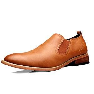 スリッポン サイドゴア メンズ ビジネスシューズ ストレートチップ ローカット 靴 ウォーキング シューズ 革靴 春秋 防滑|fashionya