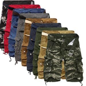 カーゴパンツ メンズ ショートパンツ 短パン ミリタリーショートパンツ ハーフパンツ ワークパンツ ショーツ 無地/迷彩 大きいサイズあり カジュア|fashionya