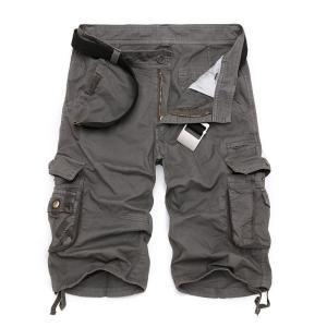 カーゴパンツ メンズ ショートパンツ 短パン ミリタリーショートパンツ ハーフパンツ ワークパンツ ショーツ 無地/迷彩 大きいサイズあり カジュア fashionya 02