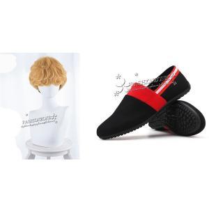 内容:ウイッグ+靴 素材 高級繊維  裏面 高級ネット サイズ フック 式のアジャスター(サイズ調整...