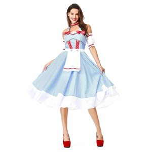 5aa8d01794e7d ドロシー衣装 女性用 ドレス お姫様 オズの魔法使い ドロシードレメイド仮装 レディース なりきりワンピース 大人用 余興 コスチューム プリンセス  かわいいP1