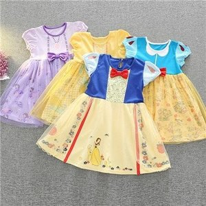 cabb1e2ec6dc9 W5 ディズニープリンセス 子供用ドレス キッズ白雪姫 ベル ソフィア なりきりワンピース プリンセスドレス 子どもドレス プリンセス キッズドレス  女の子
