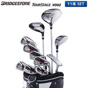 ブリヂストン ゴルフ ツアーステージ V002 クラブセット 11本組 (1W,5W,4U,6-PW,PS,SW,PT) キャディバッグ付き|fastgolf