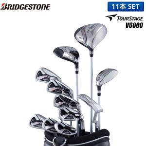 ブリヂストン ゴルフ ツアーステージ V6000 クラブセット 11本組 (1W,5W,4U,6-PW,PS,SW,PT) キャディバッグ付き|fastgolf