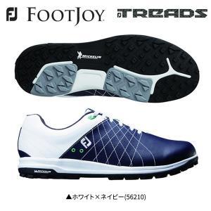 「土日祝も出荷可能」フットジョイ ゴルフ FJ トレッド レース 56210 ゴルフシューズ ホワイト×ネイビー FOOTJOY Treads Lace|fastgolf