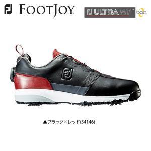「土日祝も出荷可能」フットジョイ ゴルフ FJ ウルトラフィット ボア 54146 ゴルフシューズ ブラック×レッド FootJoy ULTRA FIT Boa|fastgolf