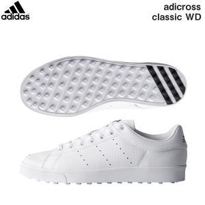 アディダス ゴルフ アディクロス クラシック ワイド F33779 スパイクレス ゴルフシューズ adidas ホワイト×ホワイト×コアブラック|fastgolf