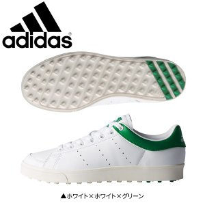 アディダス ゴルフ アディクロス クラシック ワイド F33781 ゴルフシューズ ホワイト×ホワイト×グリーン adidas|fastgolf