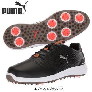 プーマ ゴルフ イグナイト パワーアダプト レザー 190581 ゴルフシューズ ブラック|fastgolf