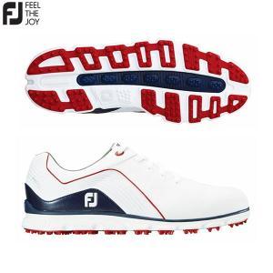 「土日祝も出荷可能」フットジョイ ゴルフ PRO SL レース 53285 スパイクレス ゴルフシューズ FOOTJOY プロエスエル ホワイト×ネイビー×レッド|fastgolf