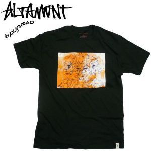 ALTAMONT(オルタモント)パスヘッド プリントTシャツ TWIN SKULL PUSHEAD アーティスト スカル グラインド MARK FOSTER|fatmoes