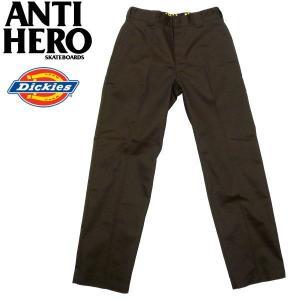 ANTIHERO(アンタイヒーロー)×DICKIES(ディッキーズ)コラボ ワークパンツ チノパン ダークブラウン|fatmoes