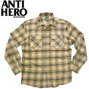 ANTIHERO アンタイヒーロー 新入荷 フランネルシャツ ANTIHERO FINGER HERO スケーター スケボー アンチヒーロー|fatmoes