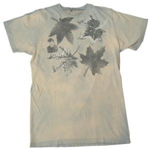 FRESH JIVE フレッシュジャイブ 和柄もみじプリント Tシャツ LA  ダメージ USED加工 タイダイ 後染め fatmoes