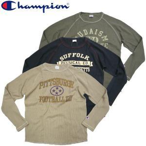 Champion チャンピオン  ワッフルサーマルラグランスリーブ Champion COLLEGE Champion 新作続々入荷中|fatmoes