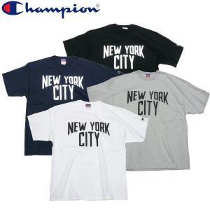Champion チャンピオン NEW YORK CITY Tee 7ozコットン ヘビーオンス ボディー NY ジョンレノン Beatles|fatmoes