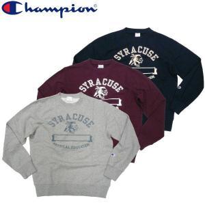 チャンピオン Champion クルーネック スウェット インディアン カレッジデザイン|fatmoes