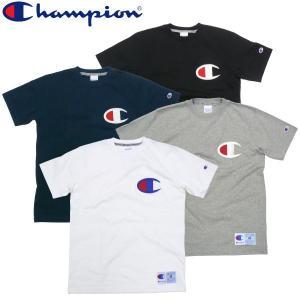 チャンピオン Champion ビックロゴ 刺繍 Tシャツ 大きいロゴ マーク アクションスタイル 90s|fatmoes