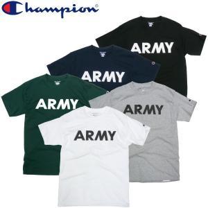 Champion チャンピオン ARMY Tシャツ ビックサイズ 大きい 2XL 3XL アーミー プリント コットン ミリタリー メンズ|fatmoes