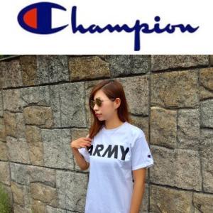 Champion チャンピオン Ladies ARMY Tシャツ アーミー プリント コットン ミリタリー レディース KIDS キッズ|fatmoes