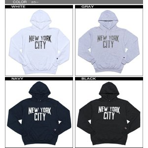 チャンピオン パーカー Champion  NEW YORK CITY ニューヨーク カレッジ スエット スウェット メンズ レディース 裏起毛 fatmoes 02