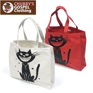 CHUBBY'S GOSPEL Clothing チャビーズ ゴスペル トートバック レッスンバック ネコ 猫|fatmoes