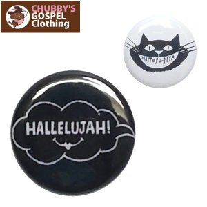 CHUBBY'S GOSPEL Clothing チャビーズ ゴスペル 大・小バッチセット 缶バッチ ハレルヤ|fatmoes