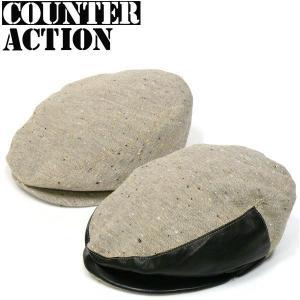 COUNTER ACTION ネップハンチング カウンターアクション キャスケット ロンドン バイカー パンク&ロック系 ロカビリー PUNK ROCK THE CLASH|fatmoes