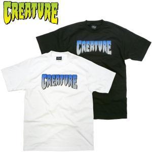 CREATURE(クリーチャー)Tシャツ CREATURE青ロゴプリント ハードコア カルト CREATURE GREEN スケーターブランド 半袖Tシャツ ホラー|fatmoes