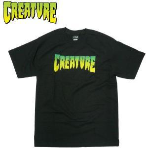 CREATURE クリーチャー LOGOTシャツ CREATURE グラデーション 半袖Tシャツ スケーターファッション|fatmoes