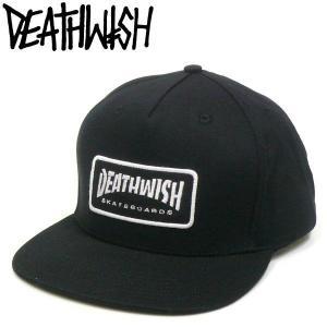 DEATHWISH(デスウィッシュ)ツイルキャップ ワッペン スナップバックCAP ブラック Thrash Death fatmoes