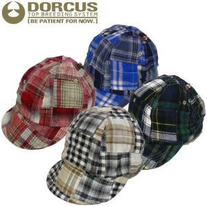 DORCUS-TBS パッチワークキャップ スケート ボード スケボーショップ チェック ミリタリー HAT ビンテージ CAP|fatmoes