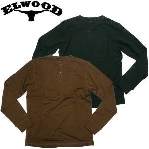 ELWOOD(エルウッド)ヘンリーネック ロングTシャツ スラブ生地 MIHENLEY カジュアル スケボー アメカジ|fatmoes