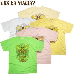 新作  ES LA MAGIA? エス・ラ・マギュア RIE LAMBDOLL コラボTシャツ リエ・ラムドール メキシカンスカル アート ART グラフティー 大阪|fatmoes