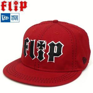 FLIP【フリップ】NEWERA CAP ニューエラキャップ ベースボールキャップ レッドカラー ステッチ ニューエラー 赤ボディー スケボーブランド SK8CAP fatmoes